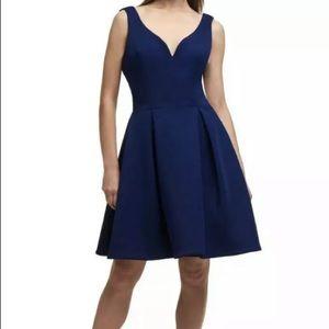 DKNY Navy Blue Skater Dress